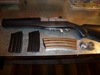 RUGER MINI 14 STAINLESS, SYNTHETIC STOCK, .223 MINT!