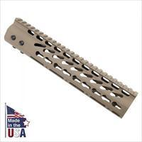 "10"" AR15/M4 KEYMOD FREE FLOAT TACTICAL HANDGUARD RAIL KEY MOD FLAT DARK EARTH"