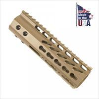"7"" AR15/M4 KEYMOD FREE FLOAT TACTICAL HANDGUARD RAIL KEY MOD Flat Dark Earth"
