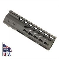 "7"" AR15/M4 KEYMOD FREE FLOAT TACTICAL HANDGUARD RAIL KEY MOD BLACK"