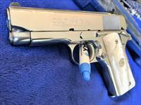 GORGEOUS Colt Officers Model .45 ACP BRIGHT STAINLESS Mirror like finish MINT,  box collectors