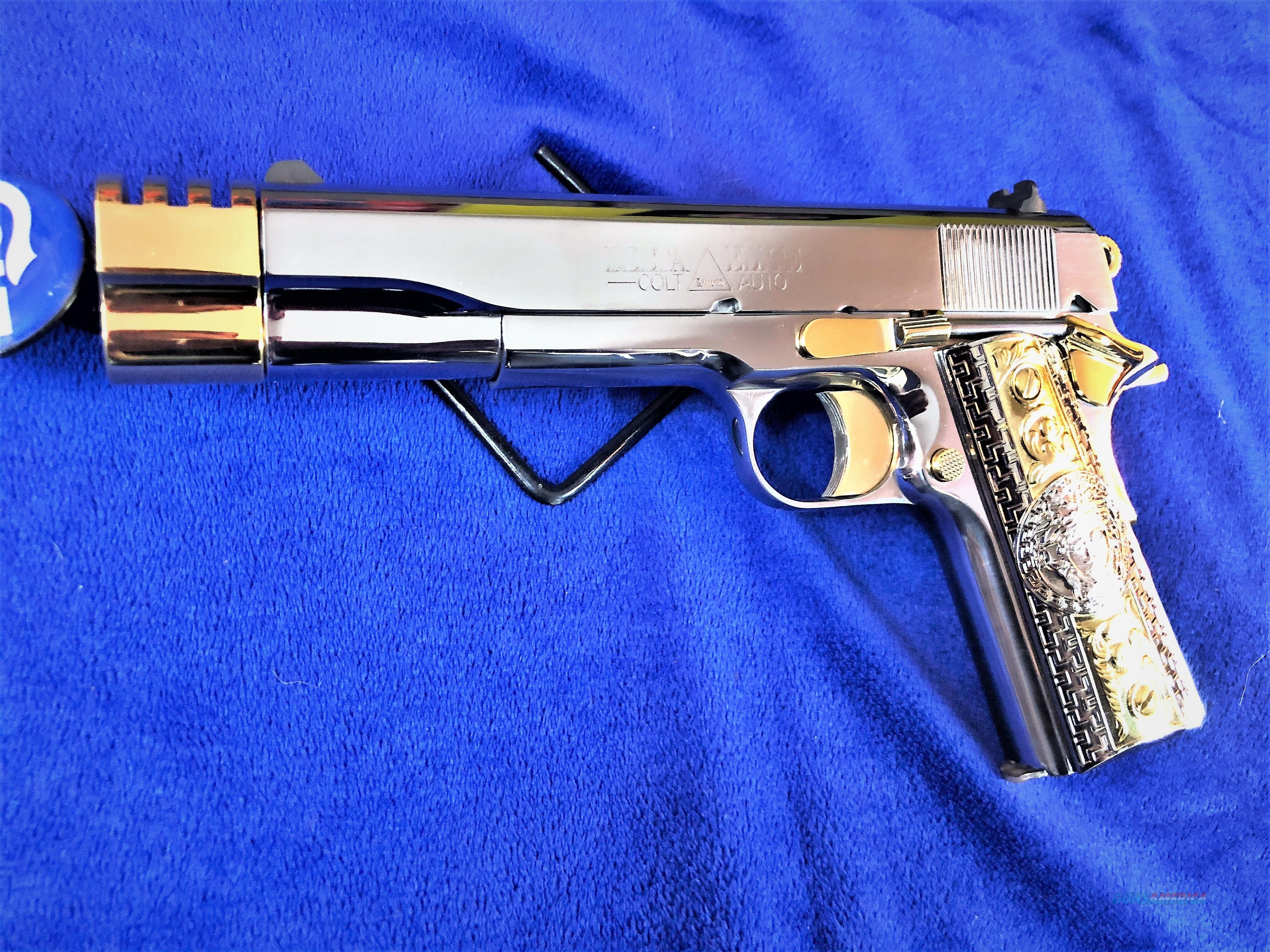 Custom Gold Plated Colt Delta Elite 10mm w/ Comp NIB