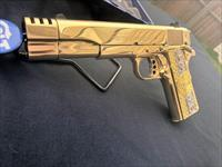 GORGEOUS Custom Colt 38 super 24k GOLD PLATED compensated