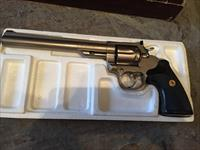 "RARE Colt Trooper 8"" ENICKEL factory box .357 not python but close to it! e nickel collector piece"