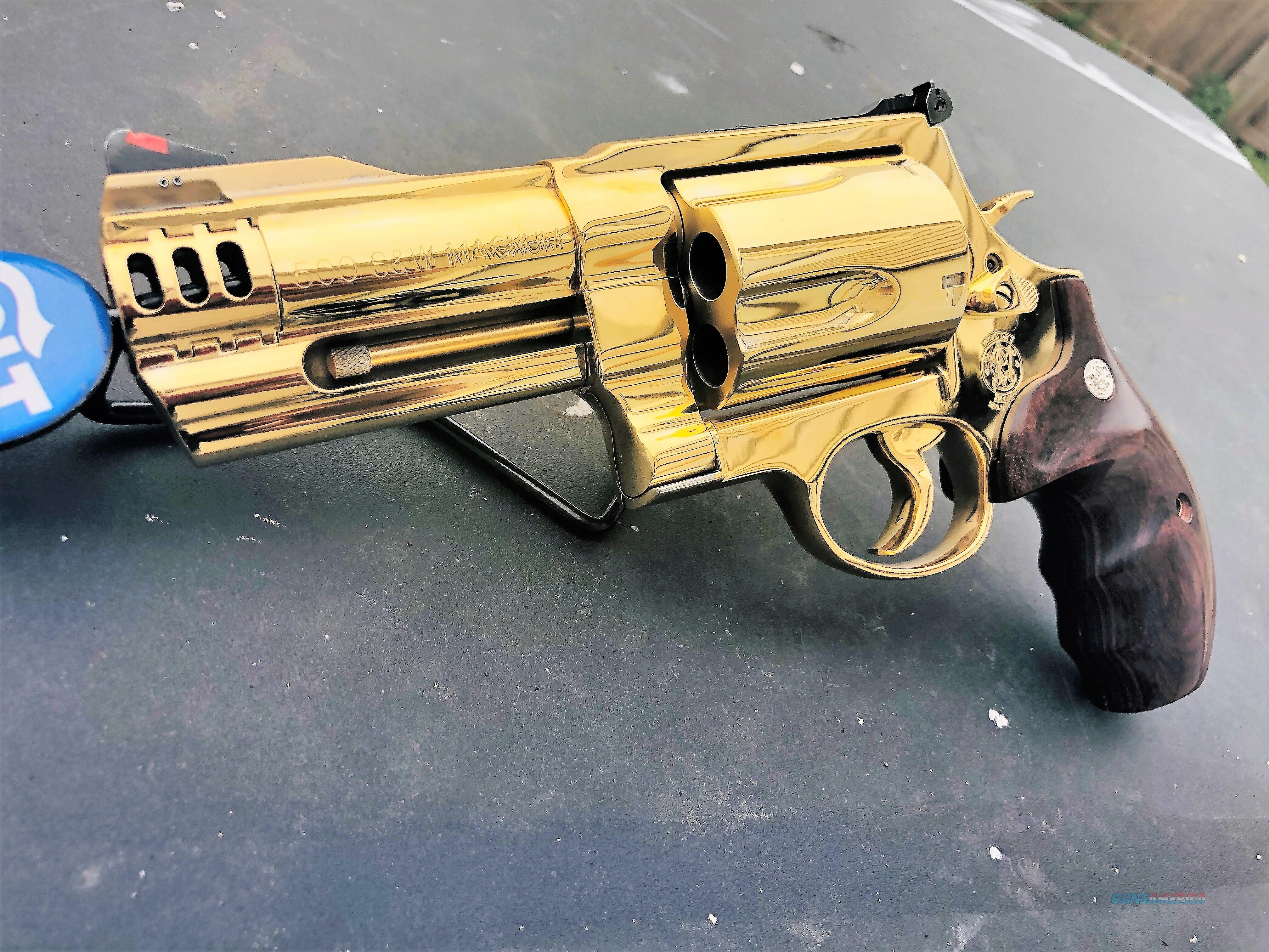 GORGEOUS Custom Smith and Wesson 500 magnum 24k GOLD PLATED