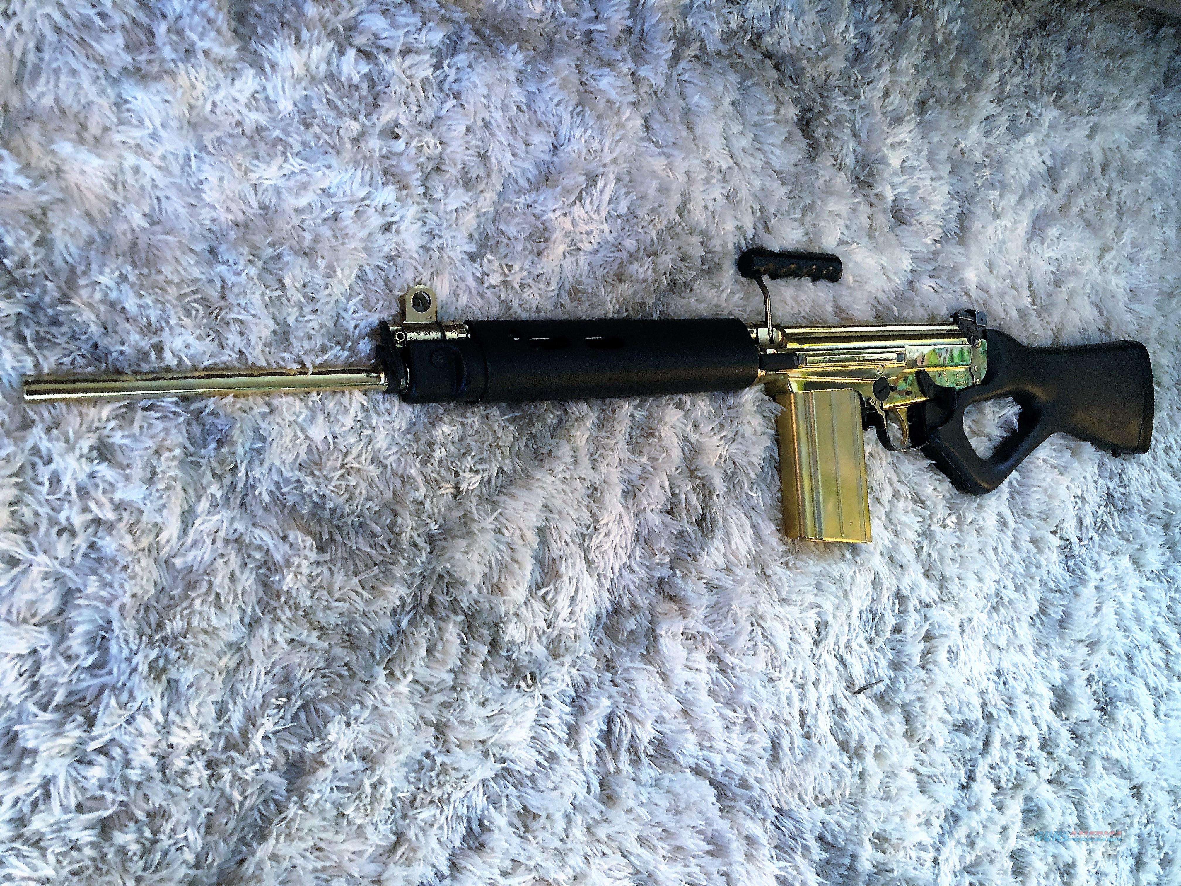 CUSTOM 24k FULL GOLD PLATED FAL  308 semi auto imbel rifle century arms  MUST SEE