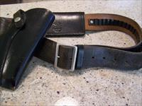 NICE OLD SFPD BELT AND HOLSTER, EARLY 1960'S