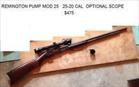 Remington Mod 25, 25-20 Cal, *Old!  Scope