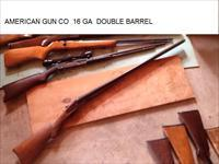 16GA American Gun Co Double Barrel