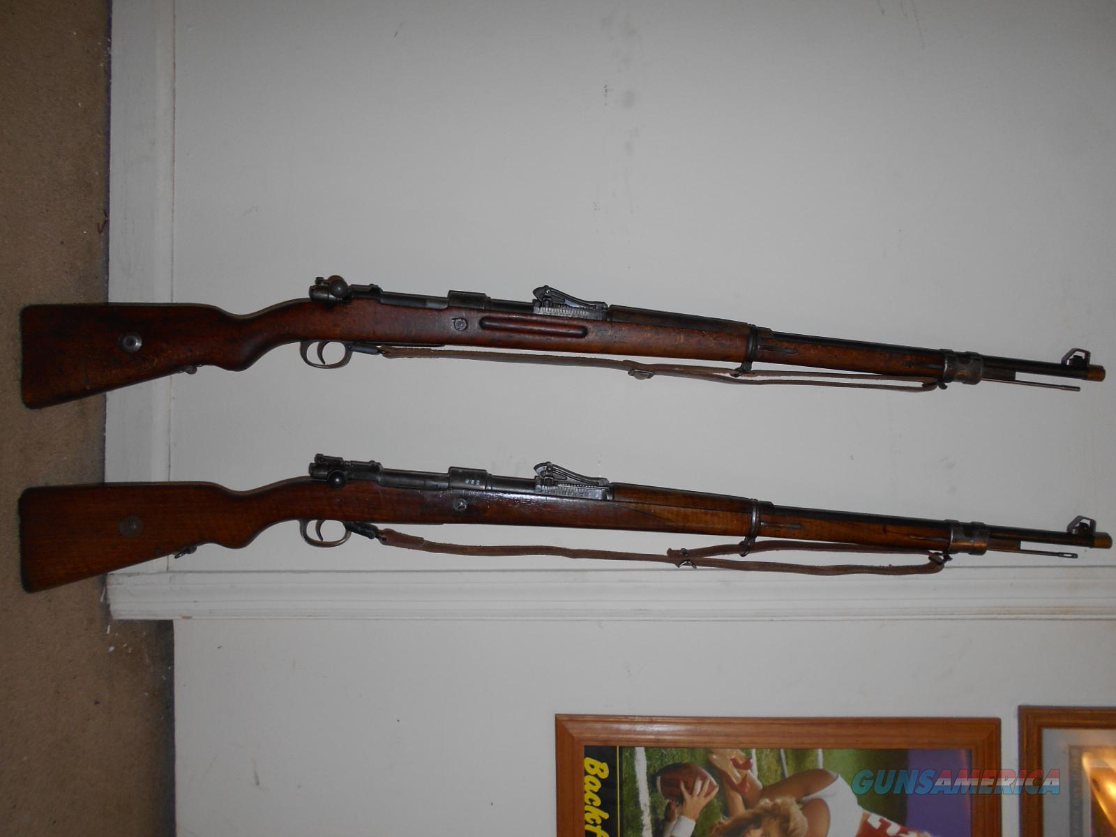 Two World War 1 German Gewehr Gew  98 Mausers originals not altered, price  is for both 1 early war 1 late war Spandau & Danzig Royal Arsenals