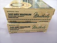 Weatherby, 340WBY Magnum, 225 Grain, X Bullet, 29 rounds,