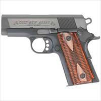 "NIB Colt Series New Agent Semi Auto Pistol .45 ACP 3"" Barrel 7 Rounds Double Diamond Slim Fit Grips Anodized Finish Black 7810D"