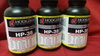 Hodgdon Hp38 Pistol Powder 3qty 1lb containers