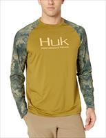 Huk Double Header Shirt Olive MD