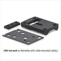 Vortex Razor Red Dot Low Dovetail Mount for Beretta 92 - Black - MT-5103