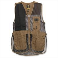 Browning Trapper Creek Shooting Vest, Clay/Black, Small - 3050266801