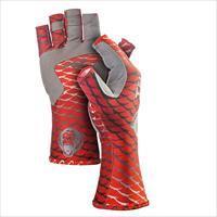 Fish Monkey Gloves Half Finger Guide Glove Redfish 2X FM11-REDFISH-2XL