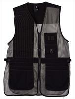 Browning Trapper Creek Shooting Vest, Black/Grey, 2XL - 3050269905
