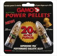 50 Gamo PBA Gold Raptor Power Pellets .22 Caliber