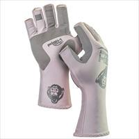 Fish Monkey Gloves Half Finger Guide Glove Light Grey 2X