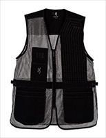 Browning Trapper Creek Shooting Vest Left Hand Black/Grey LG 3050369903