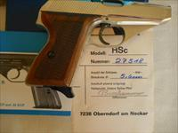 "MAUSER AUTOMATIC PISTOL MODEL HSc  .380Caliber - 3.34"" Barrel - NICKEL - FACTORY NEW"
