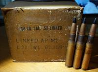 Case of .50 AP M2 Black Tip Armor Piercing Ammo 50 BMG - 60 Rds. (non-linked)