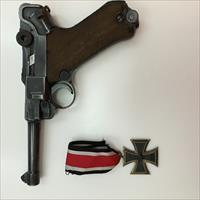 Luger P08 Dated 1942 With German Iron Cross