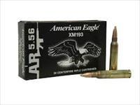 40 Rds Federal American Eagle 5.56 NATO XM193 Ammo