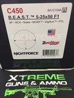 NIGHTFORCE B.E.A.S.T. C450 5-25X56 F1 **CALL FOR SPECIAL PRICE****