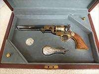 ROBERT E. LEE COMMEMORATIVE 51 Navy Colt Black Powder Pistol with Case in Excellent Condition