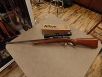 Winchester Model 43 22 Hornet With Nikon Matte BDC 3-9X40
