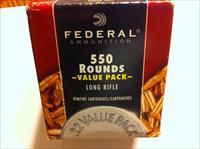 Federal 550 round value pack-5 boxes-2750 rounds