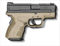 "XD MOD.2 40 S&W SUB COMPACT FDE, 3"" BARREL WITH GRIP ZONE (XDG9802FDEHC)"