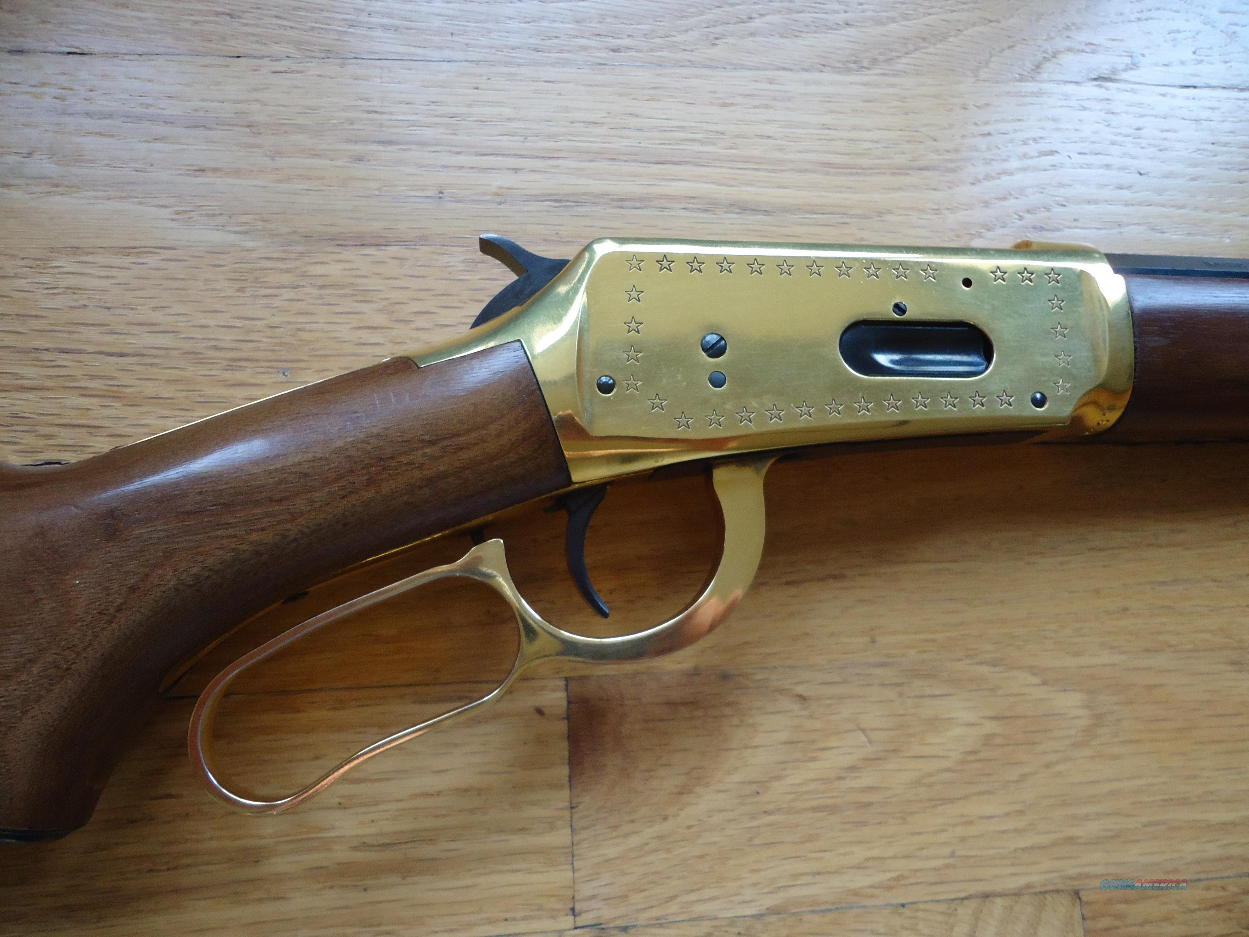 Winchester Model 94 Gold Plated Lone Star Commemorative Lever Action Rifle   30-30