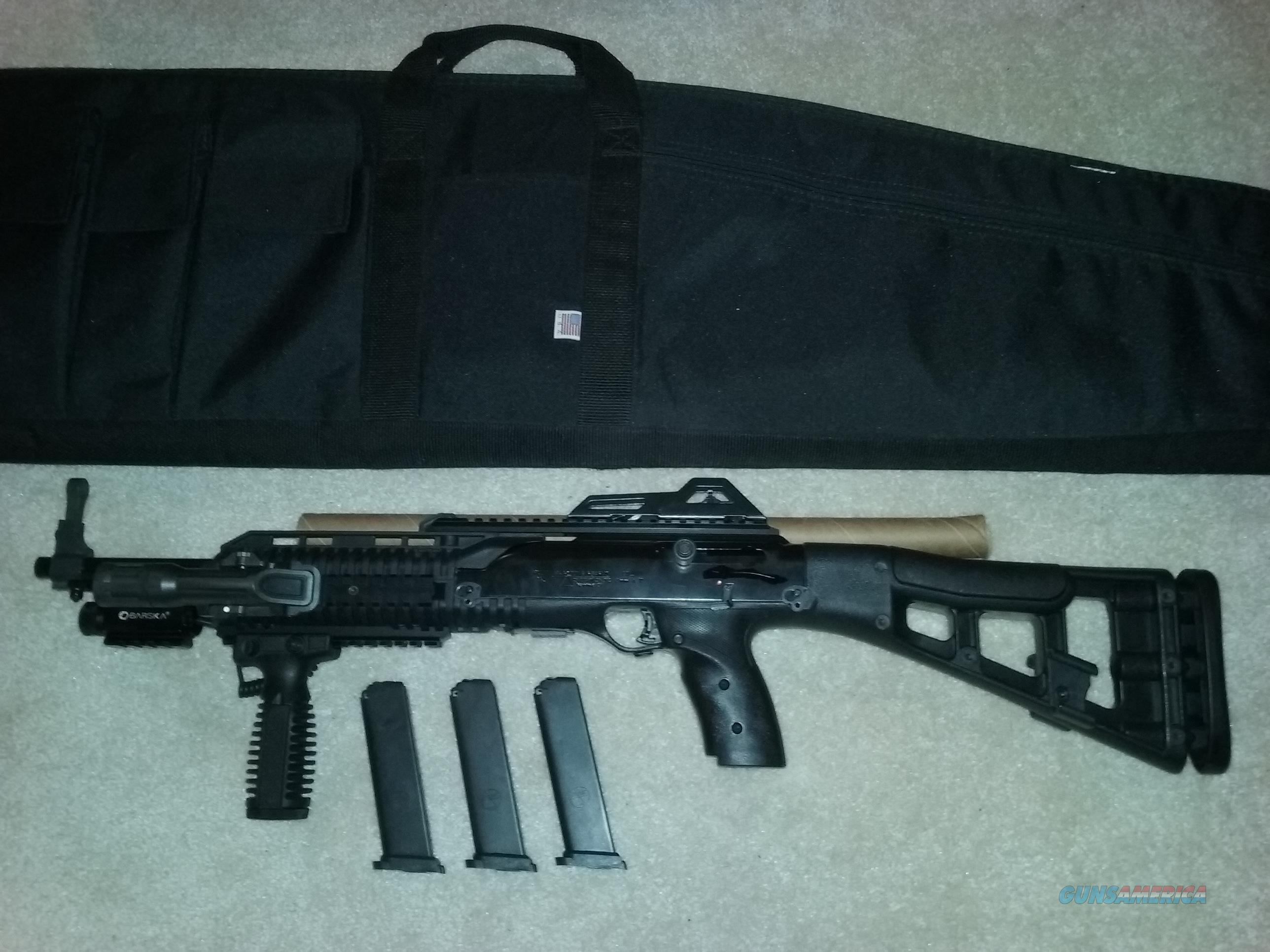 Hi-Point 9mm Rifle 995TS 3 Mags, Laser, Vert  Grip, Soft Case, Tac  Light  Available