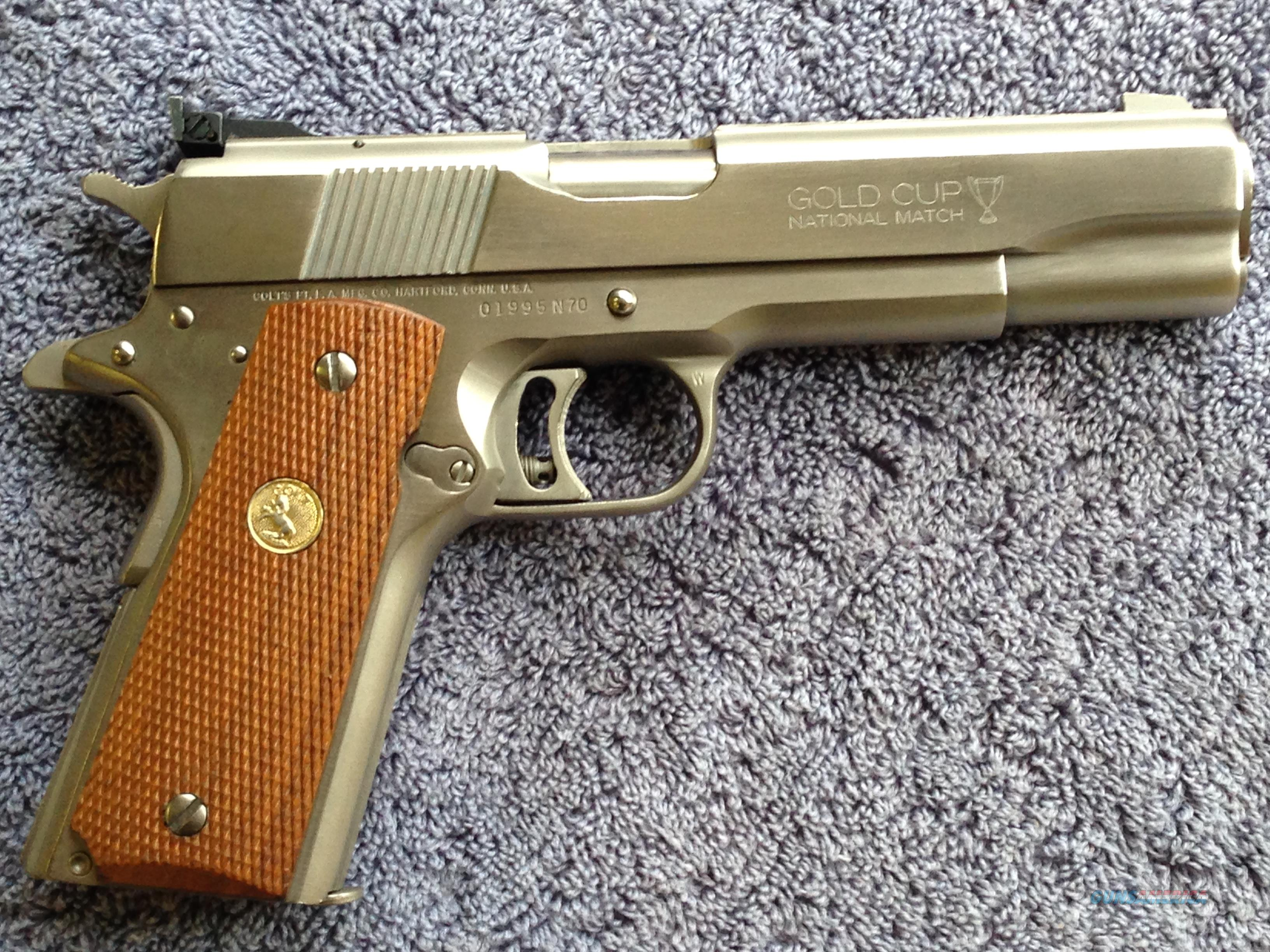 Colt 1911 Nickel Gold Cup National Match