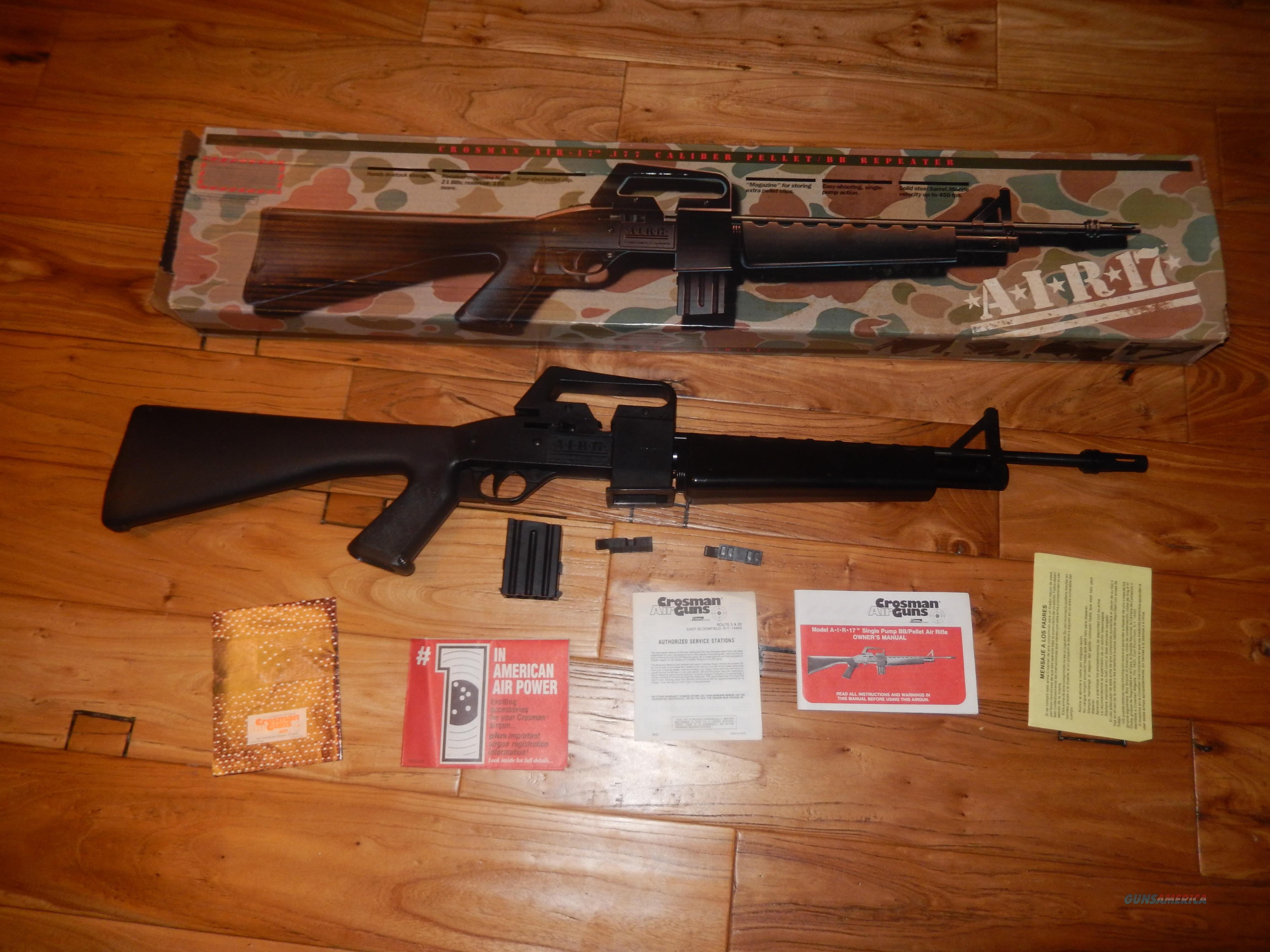 crosman air 17 pellet bb gun for sale rh gunsamerica com Repair Manuals Cartoon Manual