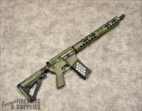 "Black Rain Ordnance ""Custom"" AR-15 with Punisher Skull Handguard - OD Green"
