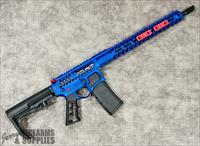 Electric Blue - F-1 AR-15 - Skeleton - Superlight - Strike Ind. Red Accents