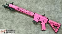 "Custom All Pink ""Hello Kitty"" Aero-Precision AR-15"