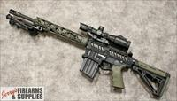 "F-1 Firearms ""Custom"" Punisher Skulls AR-10 in 7.62 NATO - OD Green *Head Turner*"