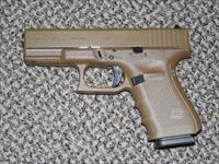 GLOCK 4th GENERATION 9 MM MODEL 19 FINISHED IN ALL FDE (Flat Dark Earth)