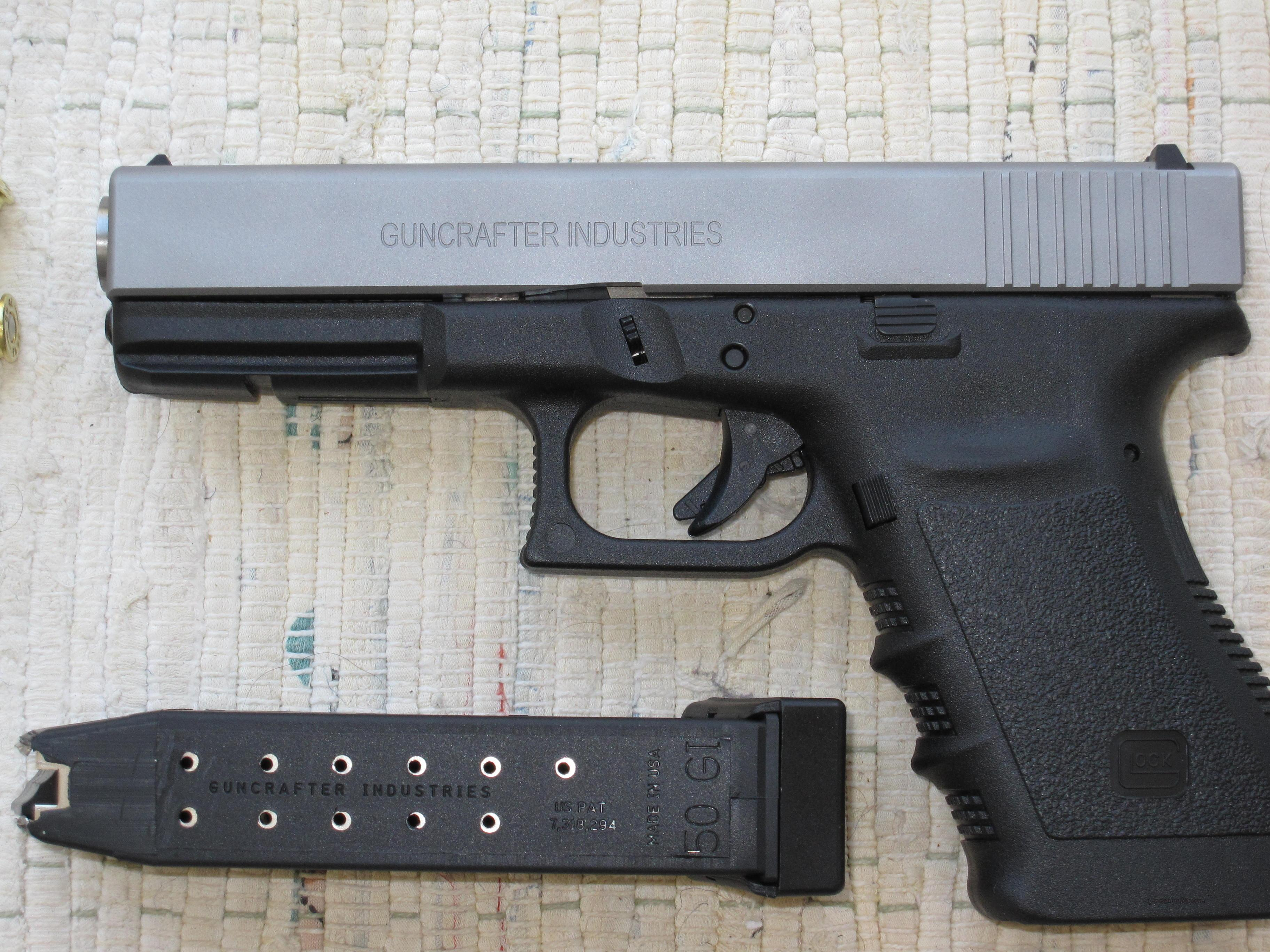 GLOCK 21, DUAL CALIBER with GUNCRAFTER'S  50 GI CONVERSION AND STANDARD  45  SLIDE!!!