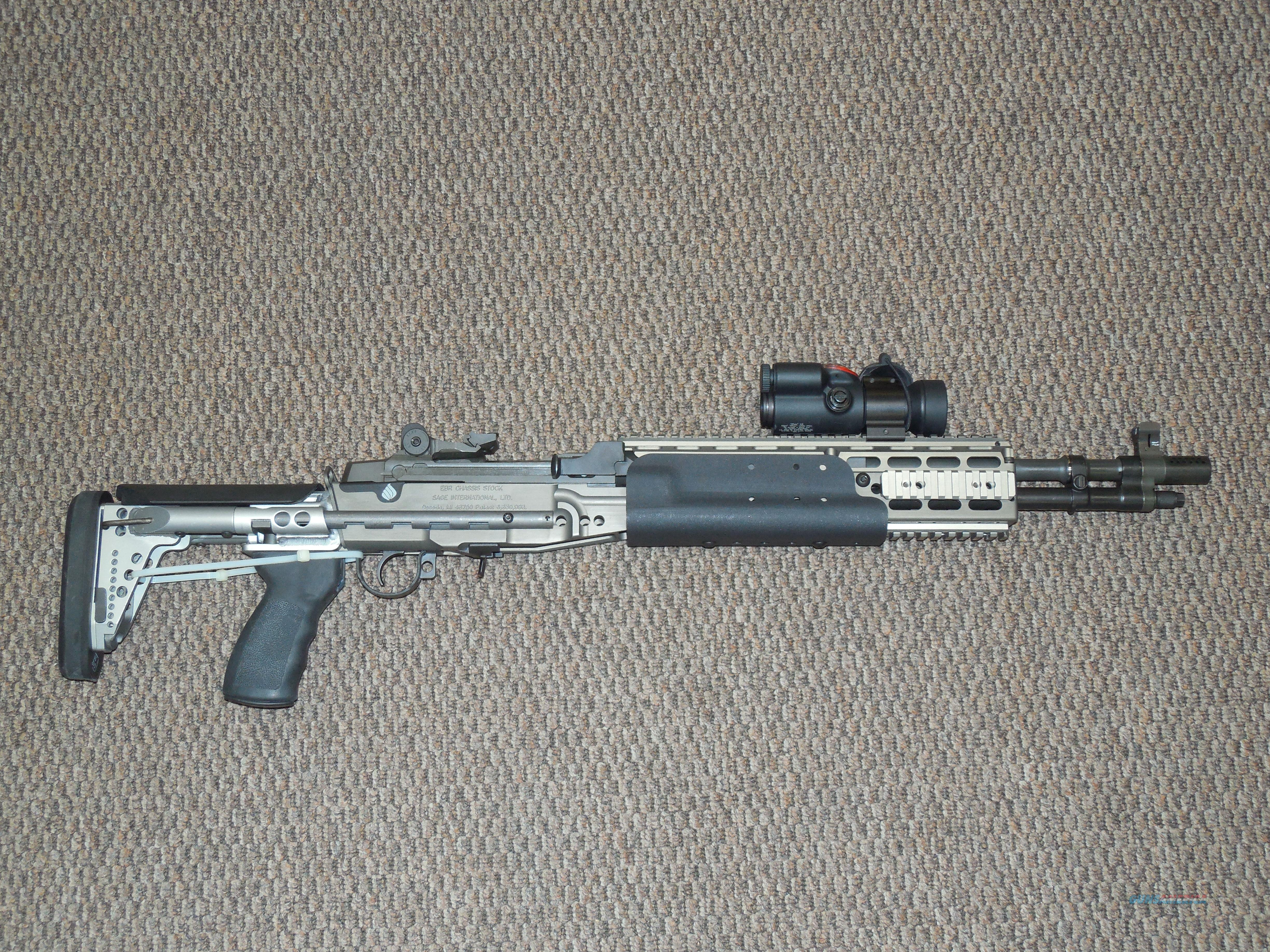 SPRINGFIED ARMORY M1A SOCOM IN SAGE EBR STOCK