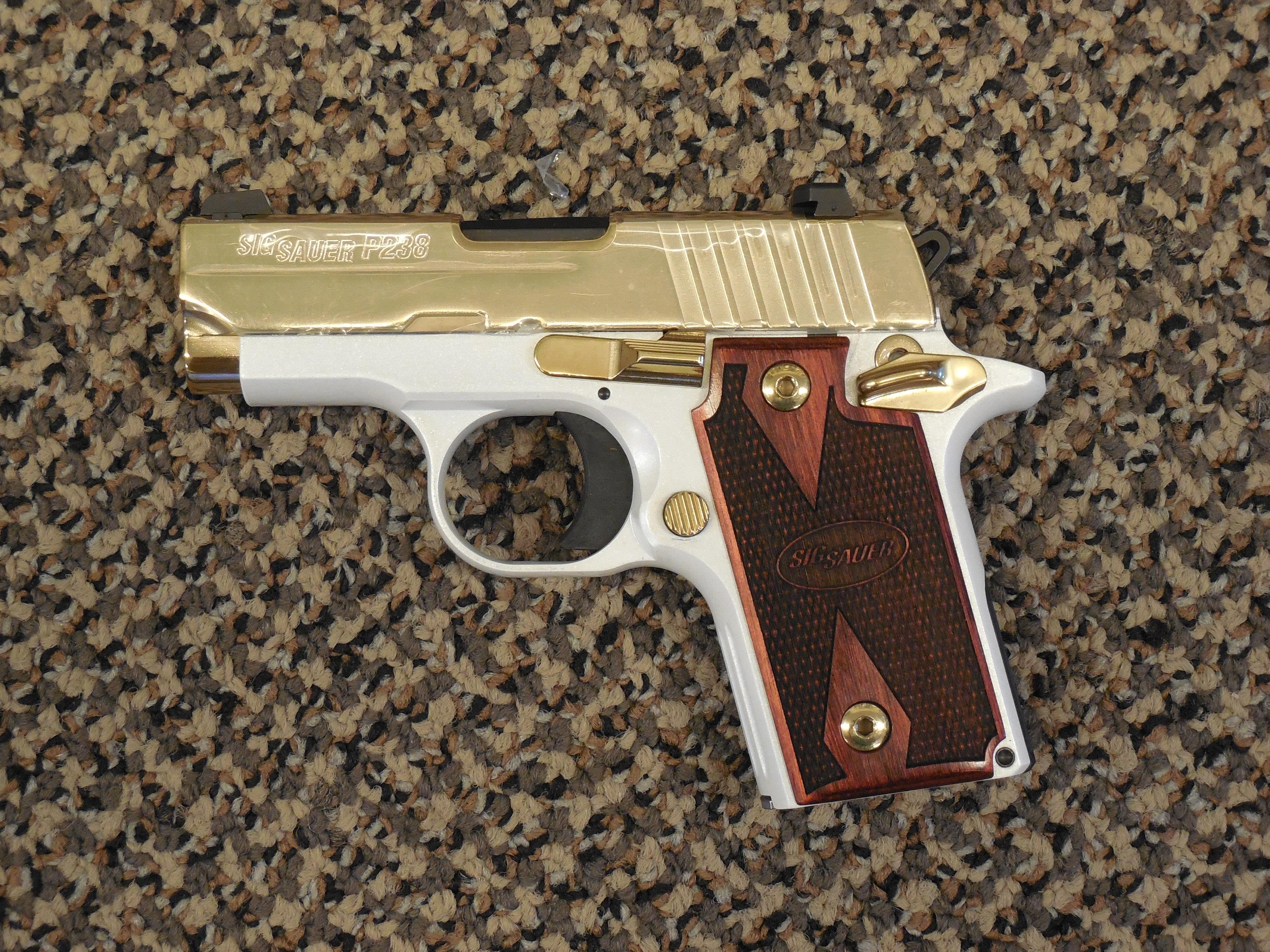 sig sauer p 238 white gold 380 acp pistol for sale