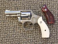 S&W MODEL 10-8 REVOLVER IN .38 SPECIAL, ROUND BUTT WITH 3-INCH BARREL IN NICKEL