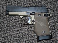 "SIG SAUER P-938 ""COMBAT"" 9 MM IN TWO-TONE TAN/FDE PISTOL"