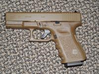 GLOCK 9 MM MODEL 19-3RD GEN FINISHED IN ALL FDE (Flat Dark Earth)