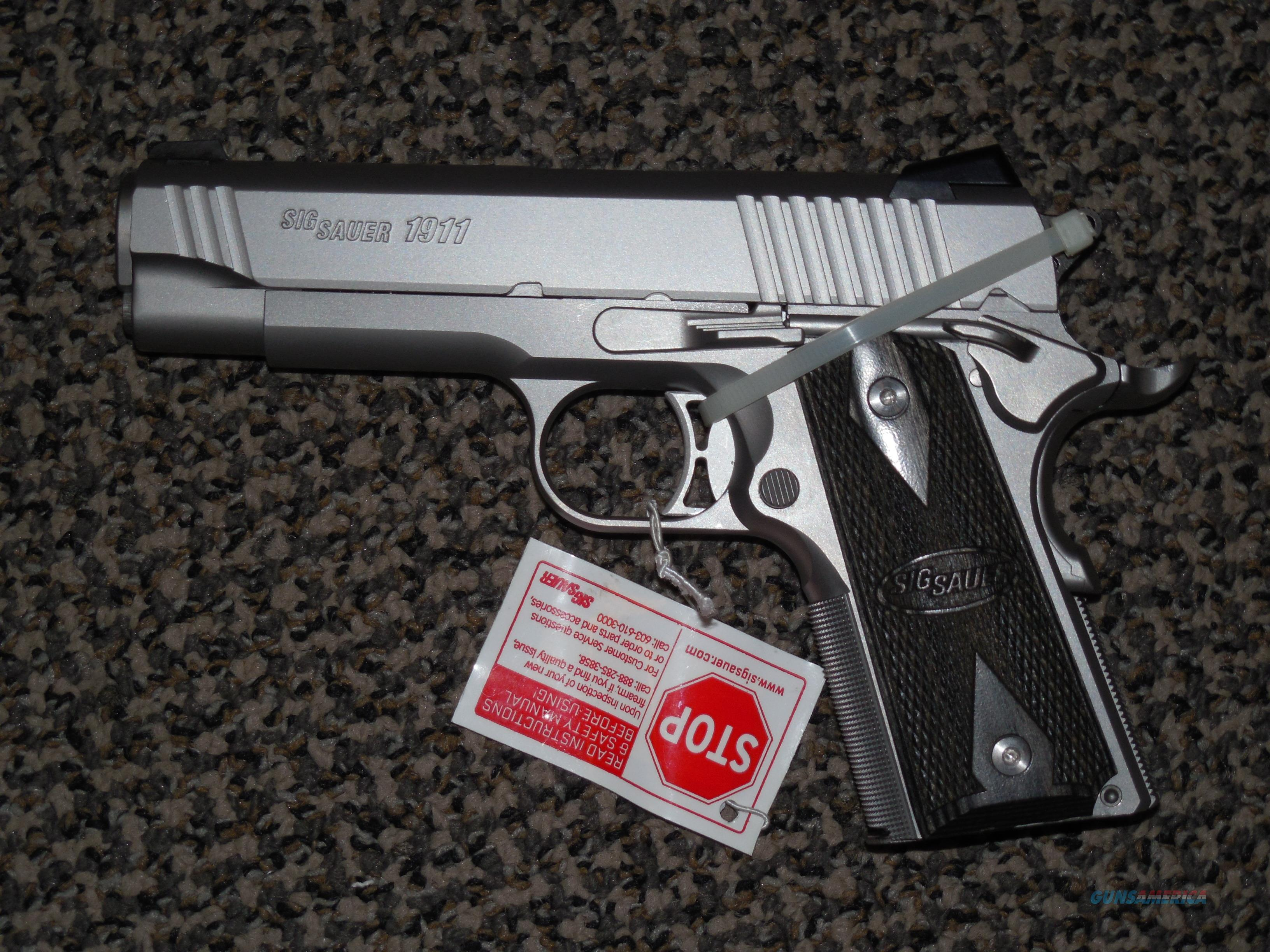 sig sauer 1911 traditional stainless 45 acp for sale rh gunsamerica com sig sauer 1911 airsoft review sig sauer 1911 22lr manual